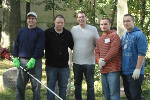 On Saturday, October 22, 2011, Assemblyman Braunstein hosted a cleanup of Lawrence Cemetery with Bayside Historical Society. Volunteers included Bayside Historical Society Board Member Steve Behar, State Committeeman Matthew Silverstein, and Welcome to Whitestone President and Vice President Devon O'Connor and Logan O'Connor.