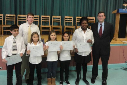 On Friday, November 18, 2011, Assemblyman Braunstein inducted the 2010-2011 Student Council members of P.S. 115, pictured here with Student Council Coordinator Mr. Brian Milella.