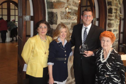 "On Saturday, April 28, 2012, Assemblyman Braunstein received the Center for the Women of New York's ""Good Guy"" Award, pictured here with the Founder and Chair of the Board of Directors, Ann Jawin, and Former Assemblywoman Ann-Margaret Carrozza."