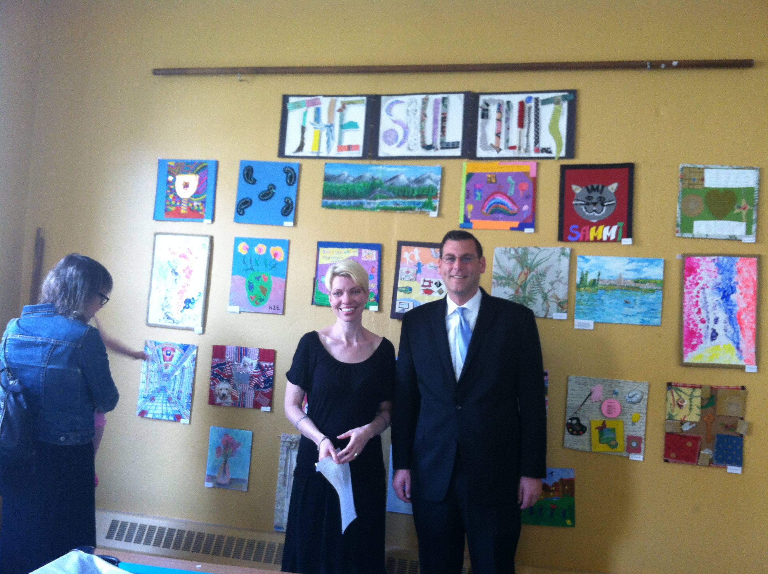 On Friday, June 17, 2013, Assemblyman Braunstein attended the Services Now for Adult Persons, Inc. of Eastern Queens (SNAP) Seniors Partnering with Artists Citywide (SPARC) Soul Quilt Ceremony. Assemb