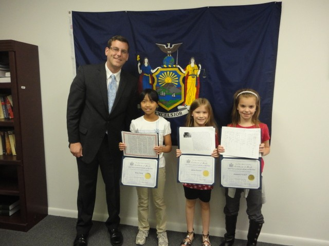 Assemblyman Braunstein congratulated the winners of his Mother's Day Essay and Poetry Contest 2013.