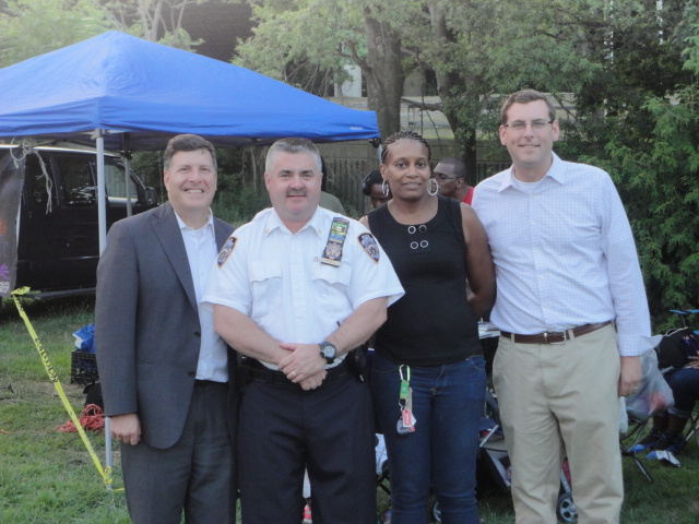 On Tuesday, August 6, 2013, Assemblyman Braunstein attended the 105th Precinct National Night Out Against Crime at Alley Pond Park. Assemblyman Braunstein is pictured here with Councilman Mark Weprin and 105th Precinct Commanding Officer Deputy Inspector Michael Coyle.