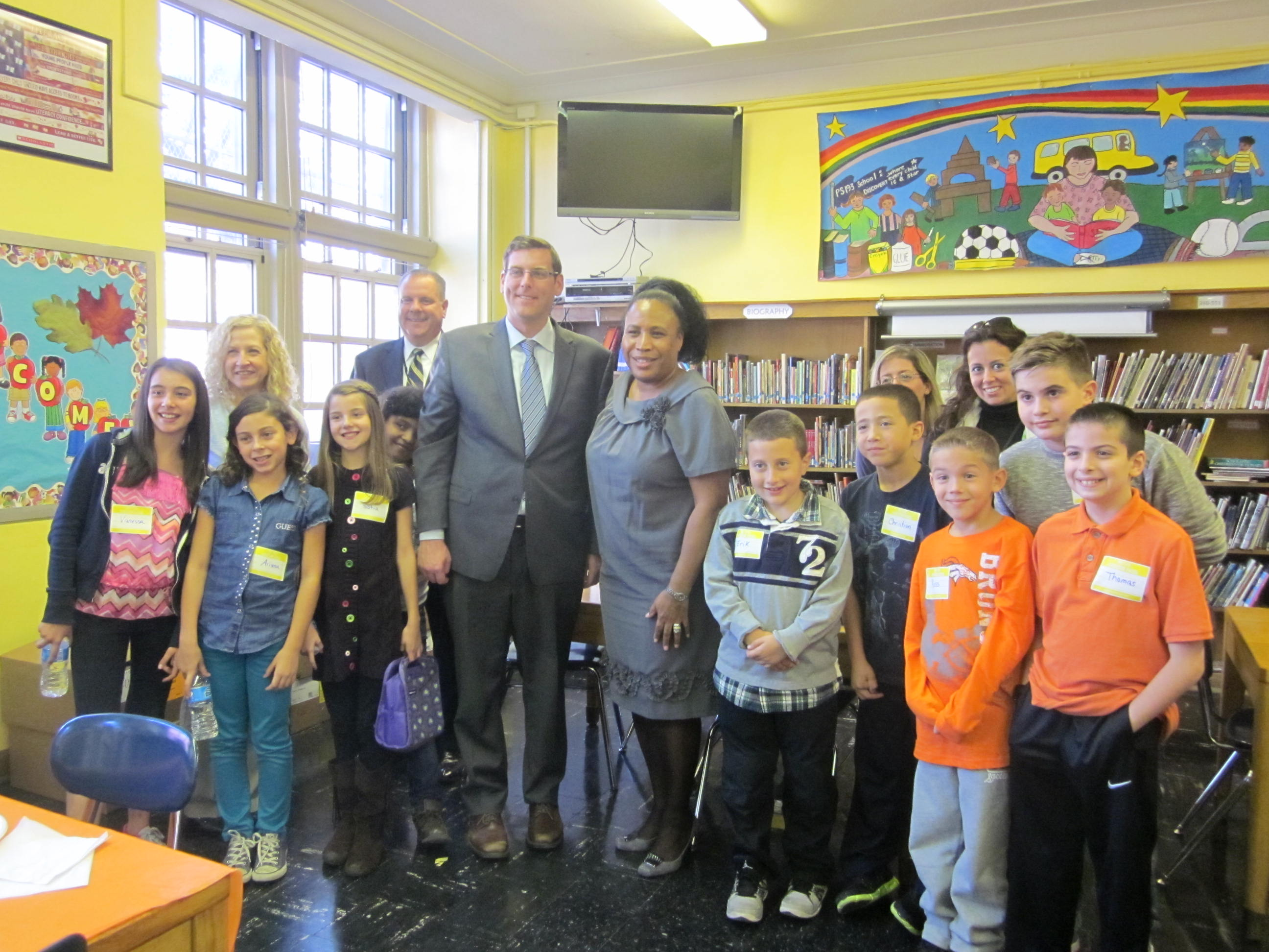 On Monday, October 28, 2013, Assemblyman Braunstein served as Principal for a Day at PS 193.