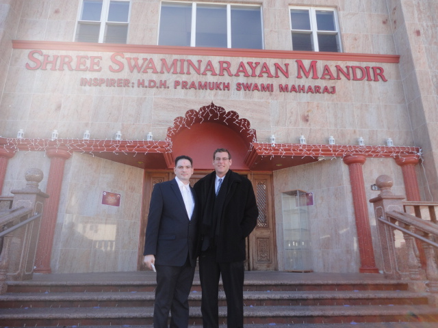 On Monday, November 4, 2013, Assemblyman Braunstein visited BAPS Shree Swaminarayan Mandir to attend a Diwali celebration.