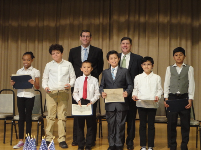 Assemblyman Braunstein attended PS 115's Student Council Induction Ceremony and is pictured here with Councilman Mark Weprin and the newly inducted Student Council.