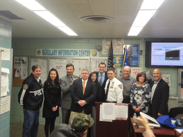 On Tuesday, December 3, 2013, Assemblyman Braunstein honored Community Affairs Officer Gary Poggiali, who is retiring after many years of service to the NYPD and Northeast Queens, at the December 111t