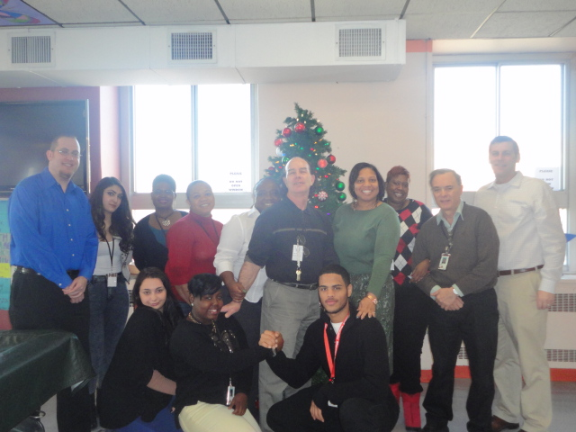On December 19, 2013, Assemblyman Braunstein delivered donations from his annual Veterans' gift drive to the St. Albans Community Living Center of the VA New York Harbor Healthcare System, pictured he