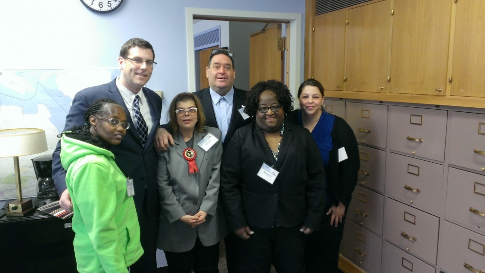 On February 11, 2014 Assemblyman Braunstein met with advocates from YAI in Albany.