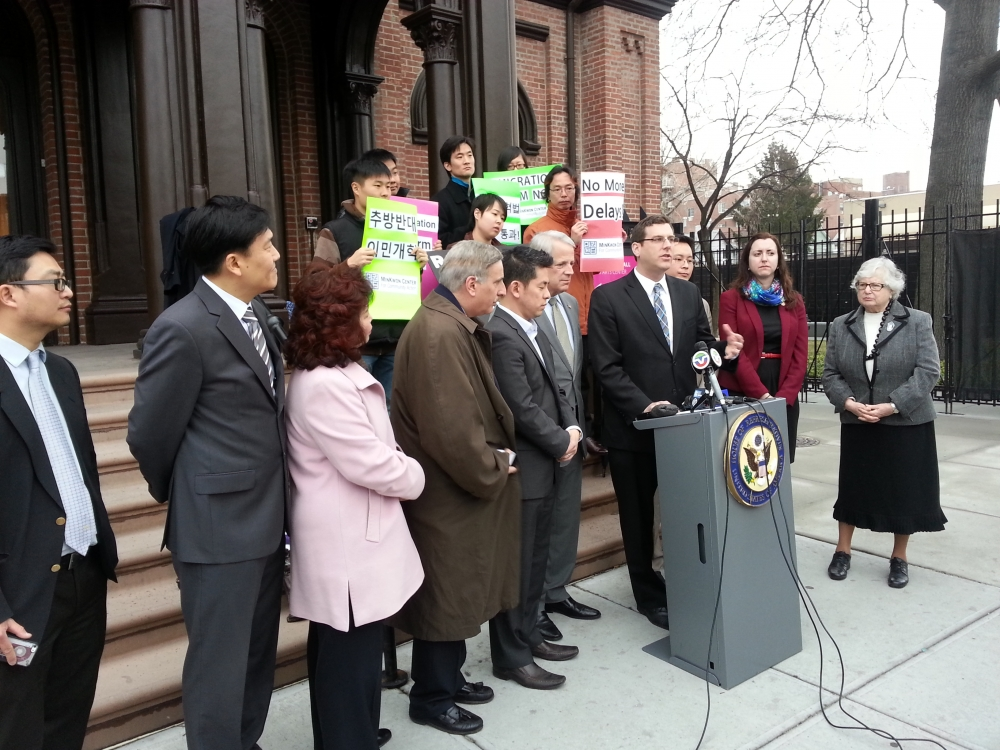 On Friday, March 28, 2014, Assemblyman Braunstein attended a rally calling on the United States House of Representatives to address immigration reform.