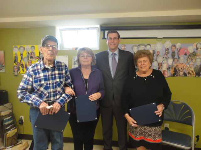 Assemblyman Braunstein attended the Deepdale CARES NORC Welcomes Spring celebration.