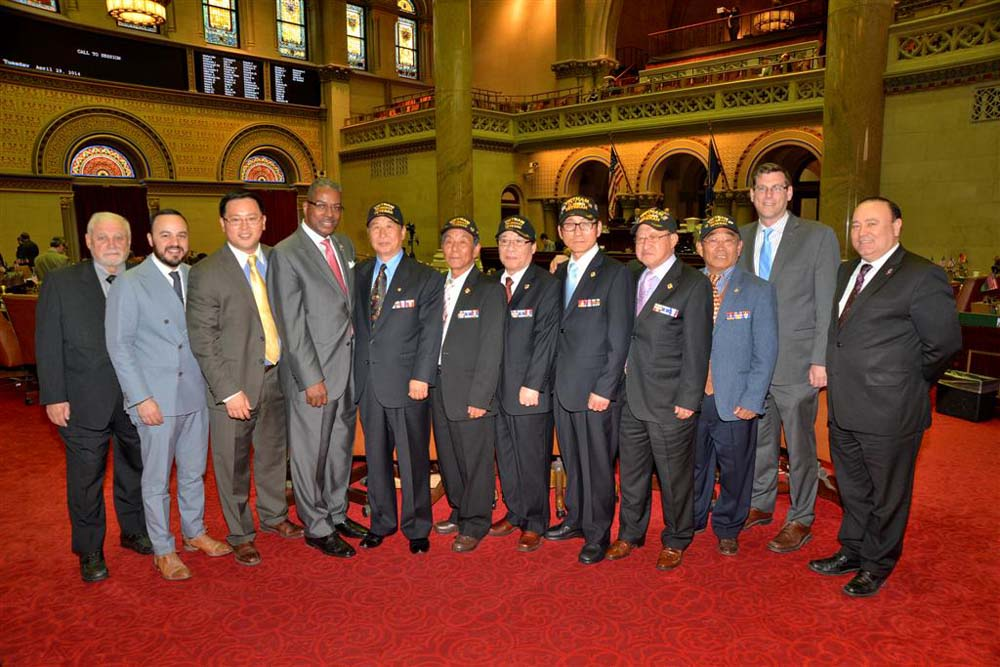 On April 29, 2014, Assemblyman Braunstein, Assemblyman Ron Kim, and Assemblyman Francisco Moya welcomed veterans of the Vietnam War from Korea. Assemblymen Braunstein, Kim and Moya are pictured with the Korean War veterans, and longtime Sergeant-at-Arms of the New York State Assembly and Vietnam veteran Wayne Jackson.