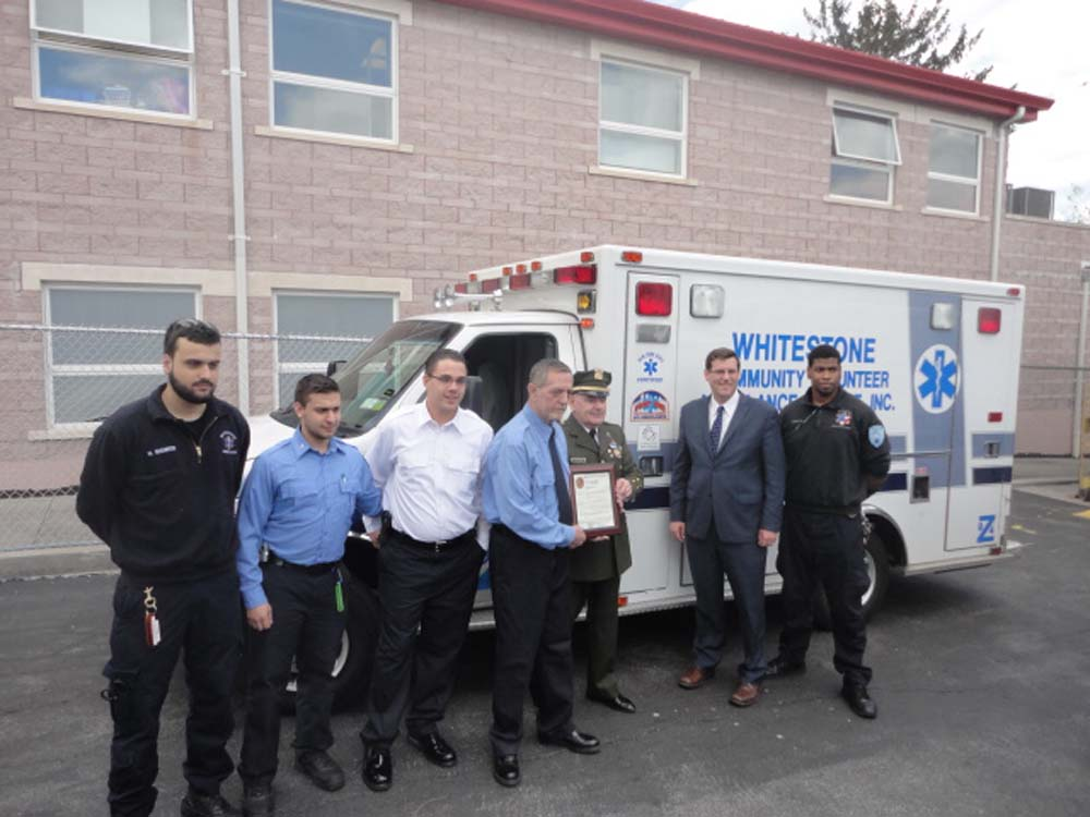 Assemblyman Braunstein visited Baby Safe Haven at the Whitestone Volunteer Ambulance Service (WVAS).
