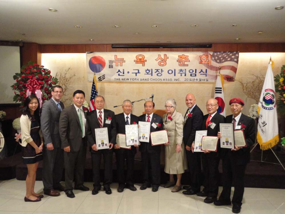 Assemblyman Braunstein attended the New York Sang Choon Association's 13th President Installation Ceremony with Senator Toby Ann Stavisky, Assemblyman Ron Kim, and Council Member Paul Vallone. Assembl