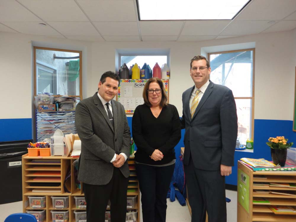 On November 21, 2014, Assemblyman Braunstein visited the Interdisciplinary Center for Child Development (ICCD) School in Bayside. Assemblyman Braunstein is pictured with ICCD Executive Director David
