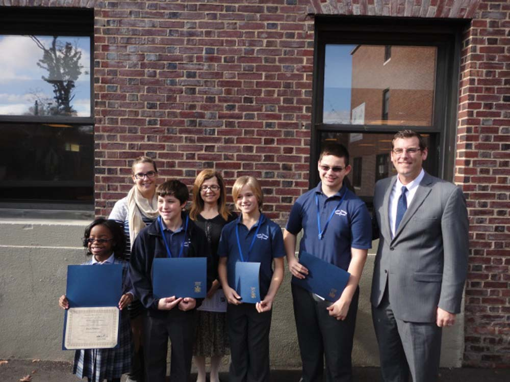 On November 12, 2014, Assemblyman Braunstein inducted the newly elected Divine Wisdom Catholic Academy of Douglaston Student Council Officers and Representatives for the 2014-2015 school year. Assembl