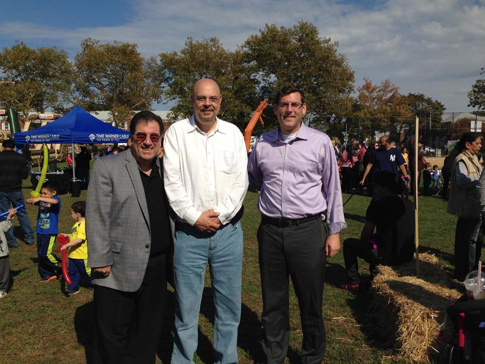Assemblyman Braunstein attended Glen Oaks Village's 4th Annual Fall Festival. Assemblyman Braunstein is pictured with Anthony Lemma of Assemblyman David Weprin's office and Glen Oaks Village President