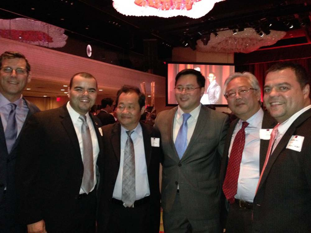 Assemblyman Braunstein attended the 103rd Anniversary Celebration of the Republic of China. Assemblyman Braunstein is pictured with Assemblymen Marcos Crespo, Ron Kim, and Luis Sepúlveda, as well as F