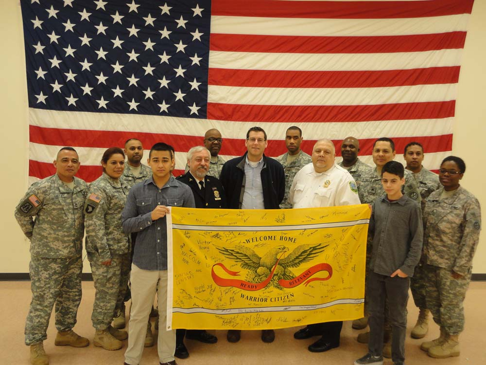 On December 14, 2014, Assemblyman Braunstein received the Warrior Citizen flag from the United States Army at Fort Totten, in recognition of donations from his office to Operation FreeMAT, one of the