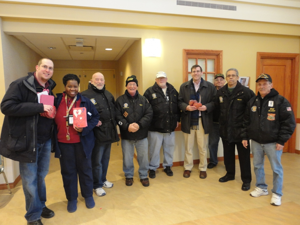 On February 13, 2015 Assemblyman Braunstein delivered donations from the 19th annual Valentines for Vets gift drive to the NYS Veterans Home at St. Albans. Assemblyman Braunstein is pictured with memb