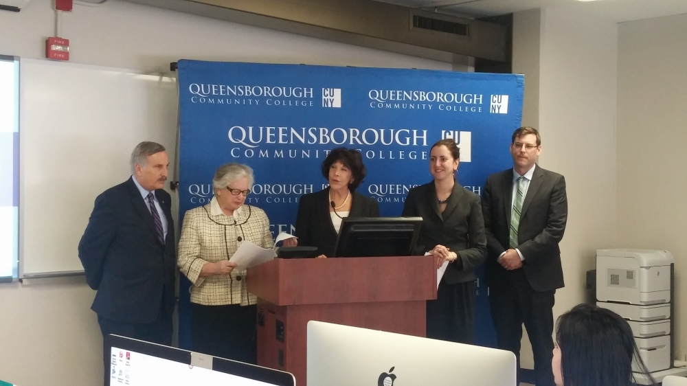 On February 23, 2015, Assemblyman Braunstein joined his colleagues, Senator Toby Ann Stavisky, Assemblywoman Nily Rozic, and Assemblyman David Weprin, as well as Queensborough Community College Presid