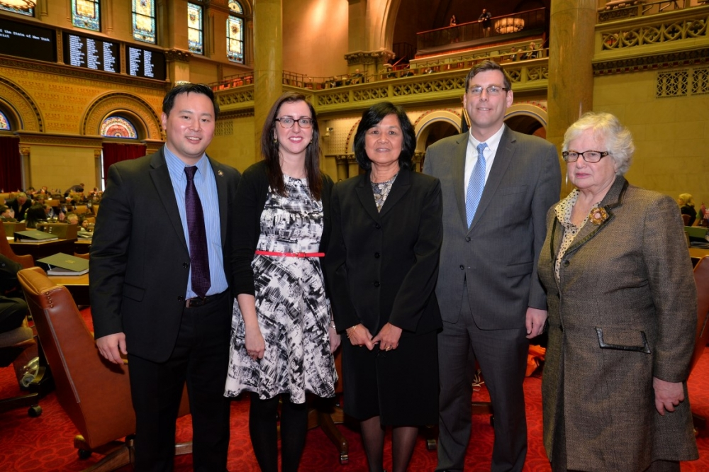 On March 10, 2015, Assemblyman Braunstein welcomed newly-elected Regent for Queens, Little Neck resident Judith Chin, to Albany with Senator Toby Ann Stavisky, Assemblyman Ron Kim, and Assemblywoman N