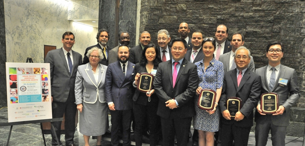 On May 28, 2015, Assemblyman Braunstein celebrated Asian Pacific American Heritage month in Albany. Assemblyman Braunstein is pictured with his colleagues, and the honorees of the event, Patricia Park