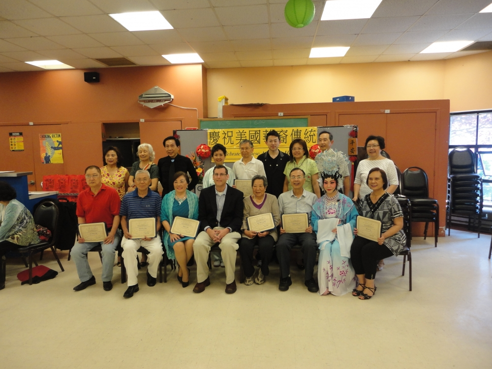 On May 30, 2015, Assemblyman Braunstein attended the Key Luck Club's 4th Annual Chinese American Heritage Celebration at Bayside Senior Center, where he honored members of the Key Luck Club for their