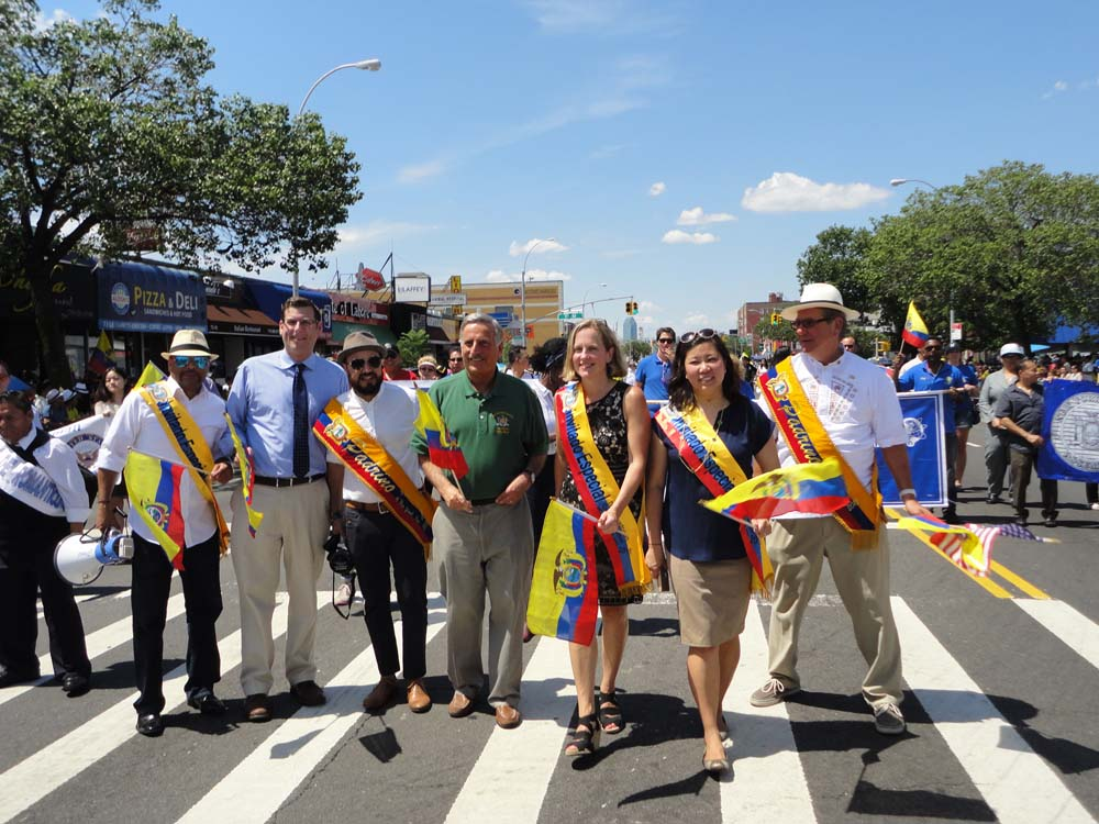 On August 2, 2015, Assemblyman Braunstein marched in the Ecuadorian Parade with his colleagues, Congresswoman Grace Meng, Queens Borough President Melinda Katz, and Assemblymen Francisco Moya, Michael