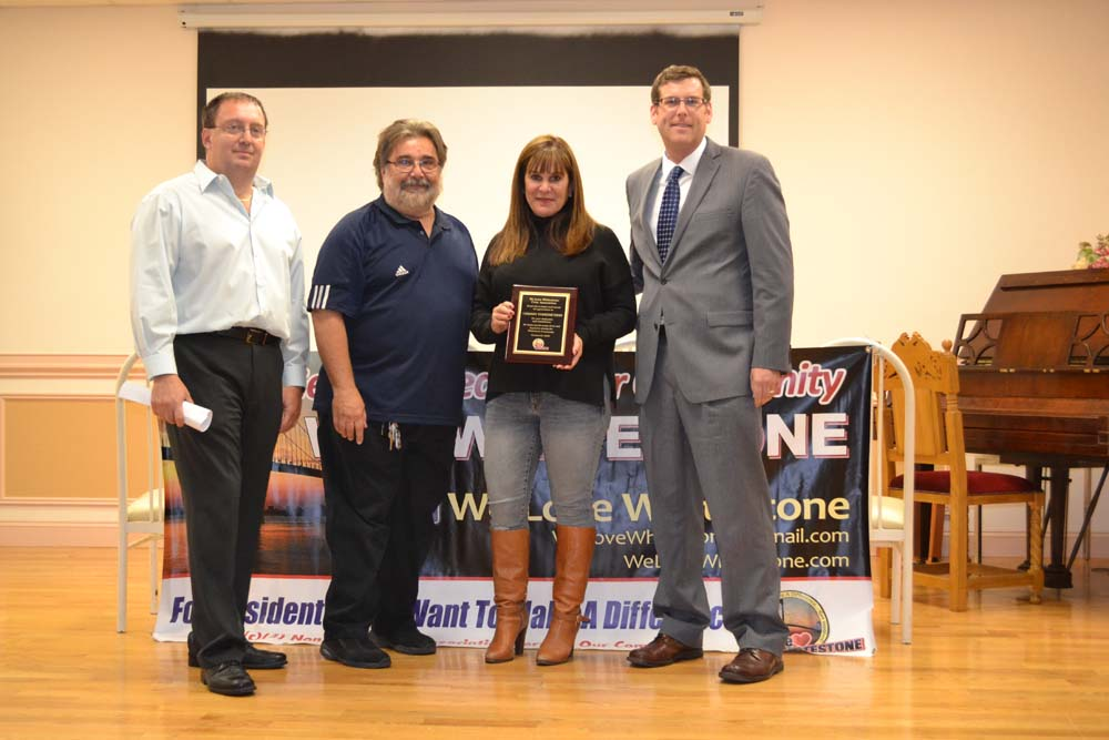 On October 21, 2015, Assemblyman Braunstein sponsored plaques at We Love Whitestone's 1st Anniversary Meeting. The plaques were presented to Deputy Inspector Thomas Conforti, 109th Precinct Community