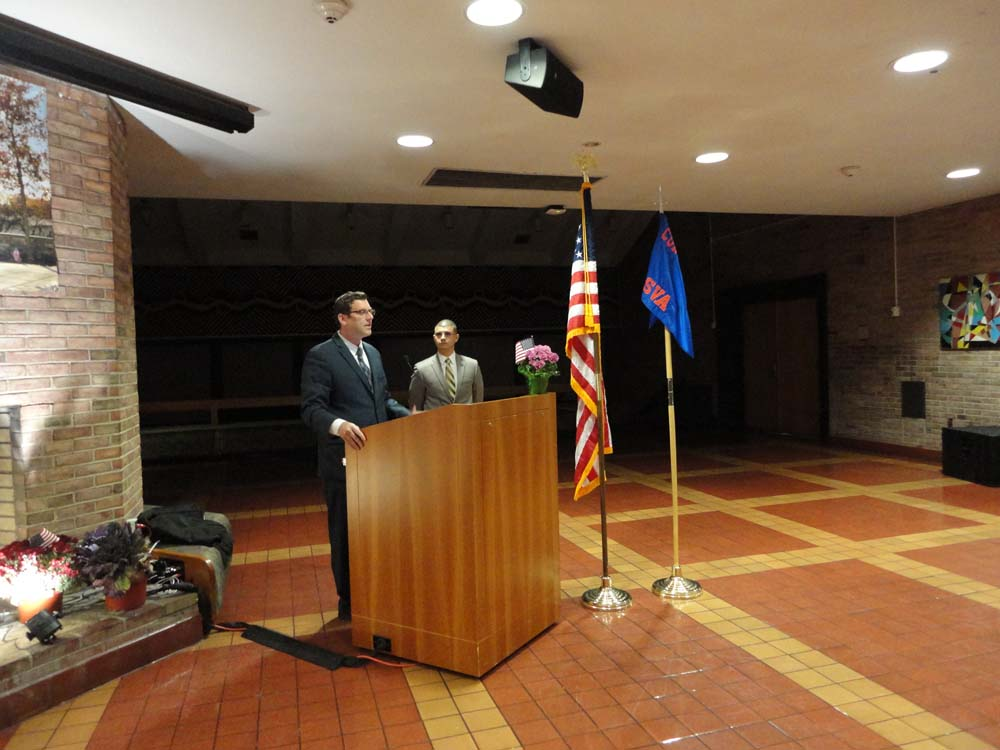 On November 12, 2015, Assemblyman Braunstein spoke at Queensborough Community College's 3rd Annual Veterans Dinner.