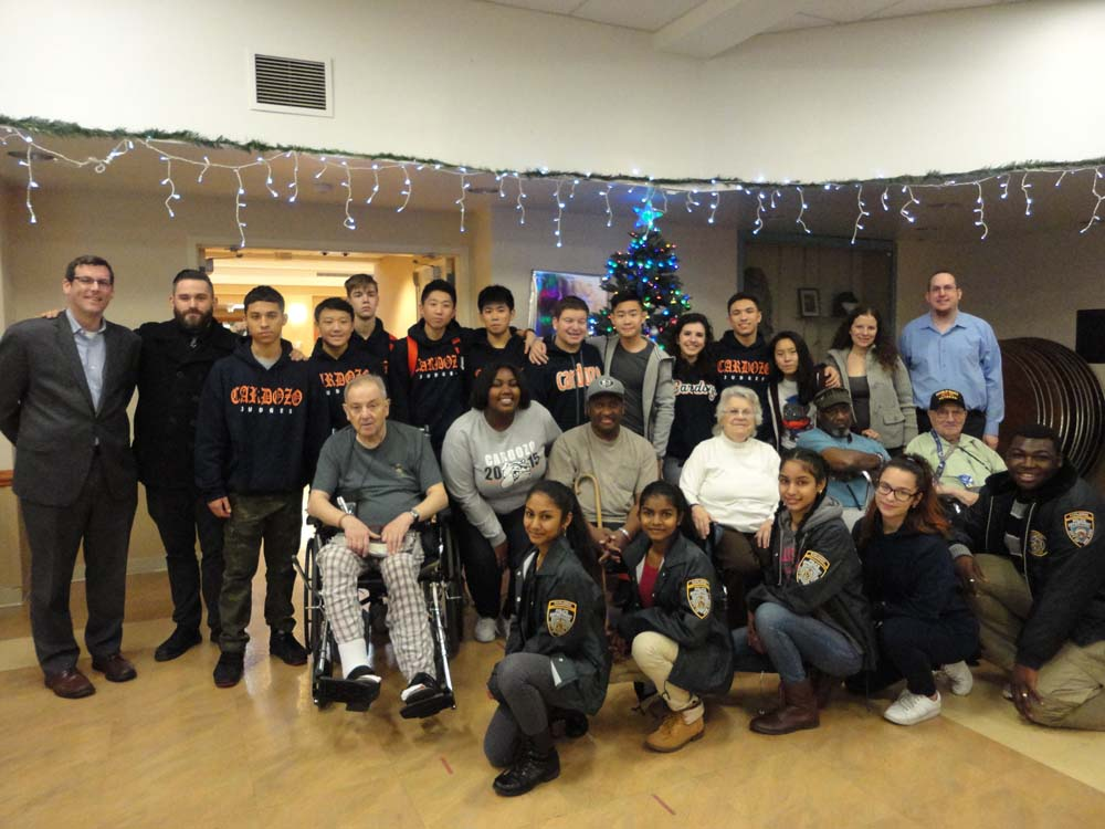 On December 18, 2015, Assemblyman Braunstein delivered gift drive donations to the NYS Veterans Home at St. Albans with students from Benjamin N. Cardozo High School. Assemblyman Braunstein is picture