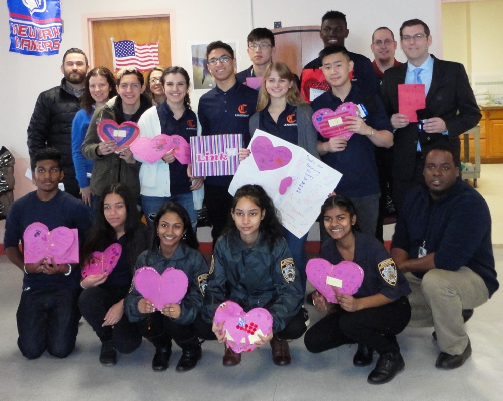 Assemblyman Edward C. Braunstein is pictured at the St. Albans Community Living Center with donations from the 20th Annual Valentines for Vets gift drive, along with his staff, Benjamin N. Cardozo Hig