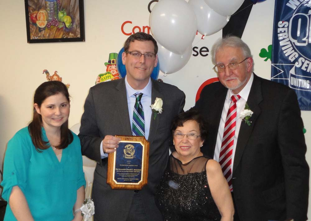 On March 17, 2016, Assemblyman Braunstein was honored with the Rose Kryzak Legislative Award at the Queens Interagency Council on Aging's (QICA) 45th Anniversary Celebration at the Queens Community Ho