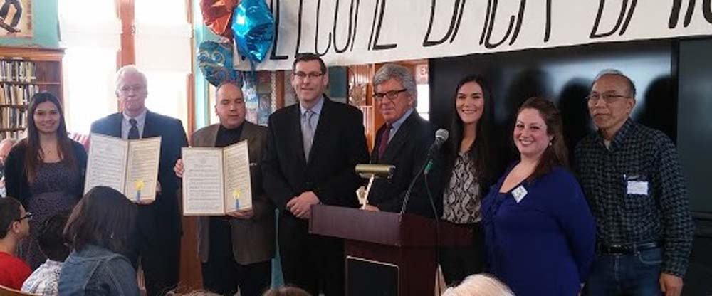 On March 21, 2016, Assemblyman Braunstein presented a New York State Assembly Resolution in honor of Bayside High School's 80th Anniversary.