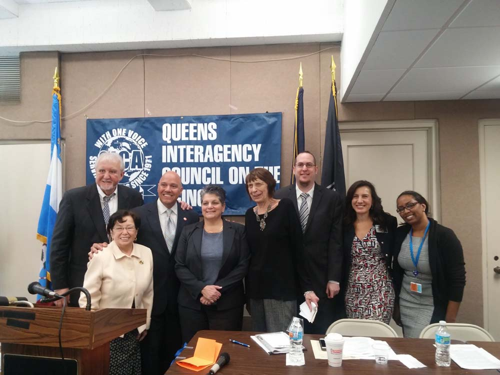 On May 18, 2016, Chief of Staff David Fischer represented Assemblyman Braunstein when his office co-sponsored the Queens Interagency Council on Aging's City Council and State Assembly Town Hall Meetin