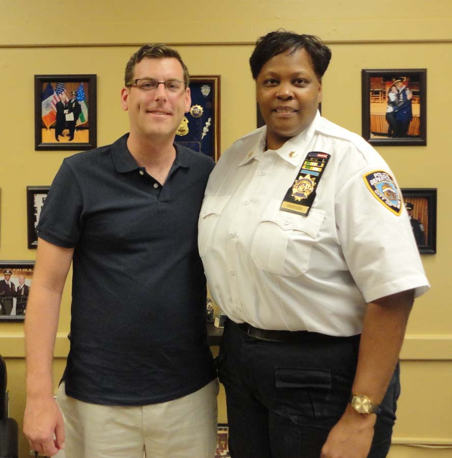 On June 20, 2016, Assemblyman Braunstein met with Deputy Inspector Judith R. Harrison, the new Commanding Officer of the 109th Precinct.