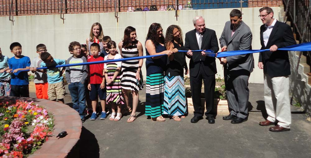 On June 21, 2016, Assemblyman Braunstein attended PS 79's Learning Garden Ribbon Cutting Ceremony.