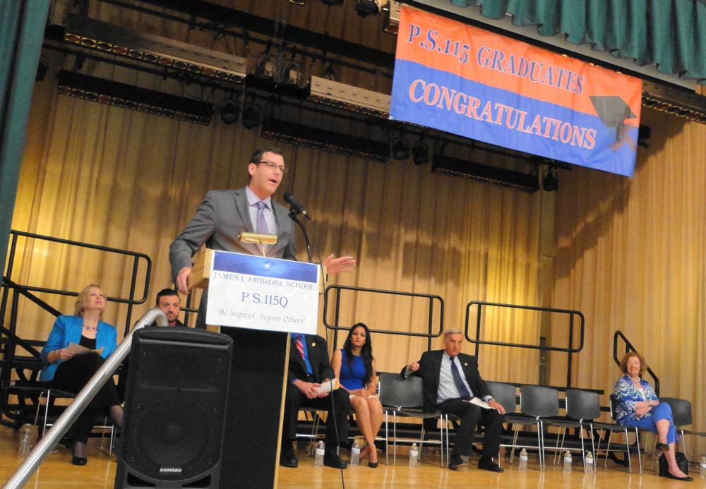 On June 24, 2016, Assemblyman Braunstein spoke during PS 115: The James J. Ambrose School's graduation ceremonies.