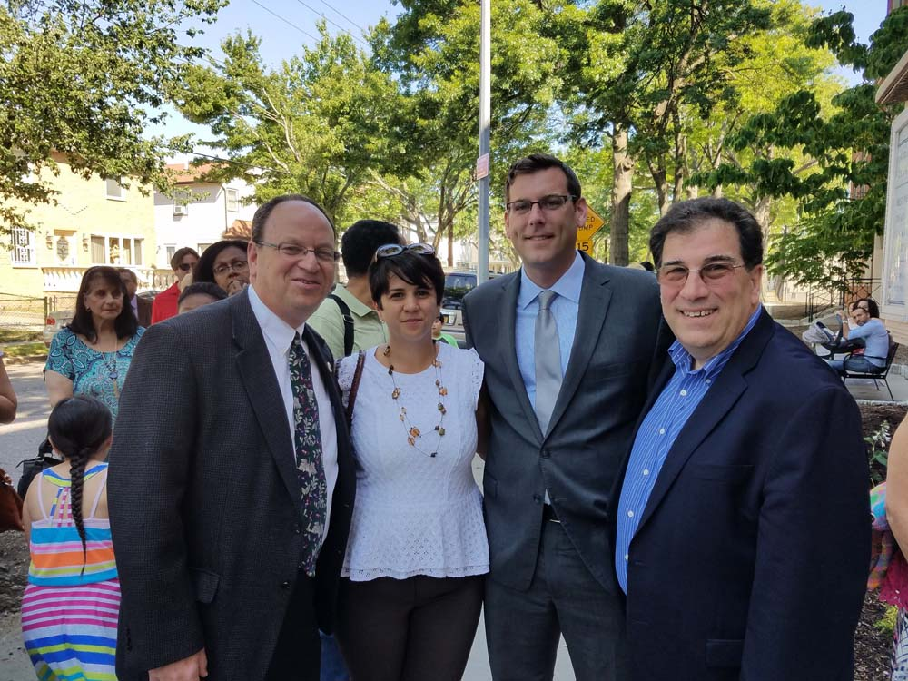 On June 25, 2016, Assemblyman Braunstein attended the PS 115 renaming to the James J. Ambrose School.
