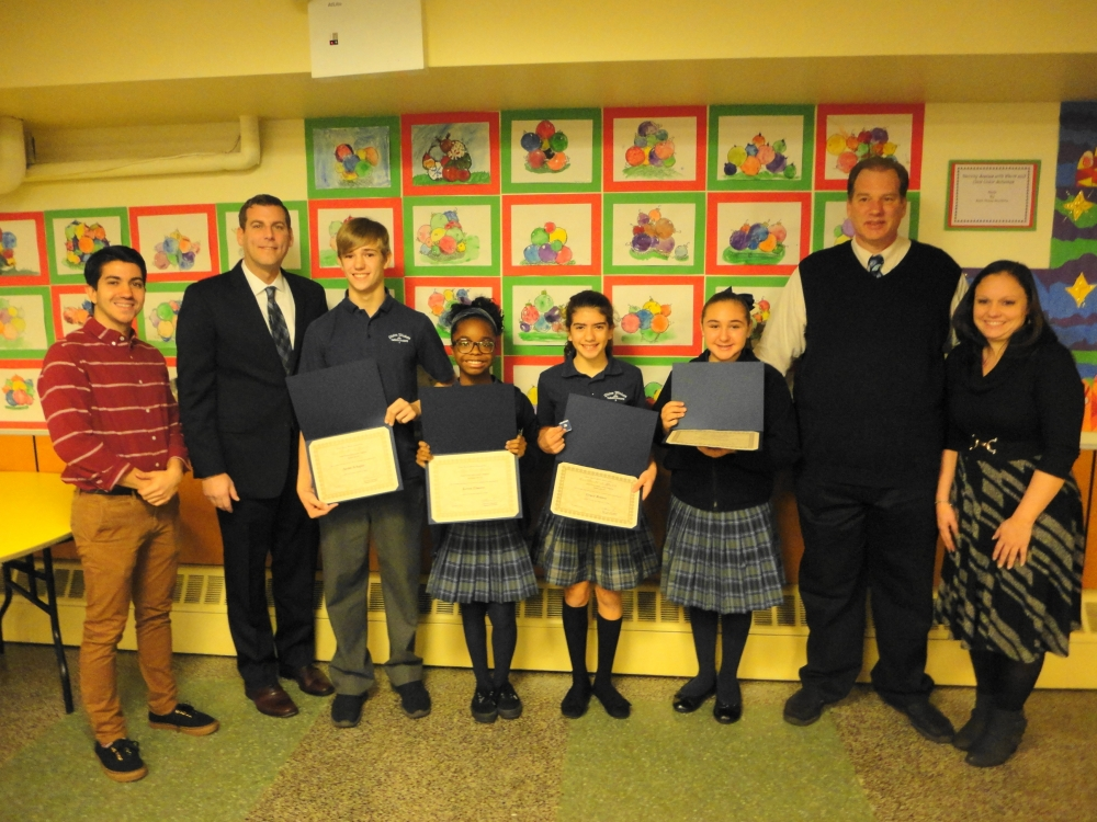 On December 5, 2016, Assemblyman Braunstein installed the Divine Wisdom Catholic Academy of Douglaston 2016-2017 Student Council Officers and Representatives.