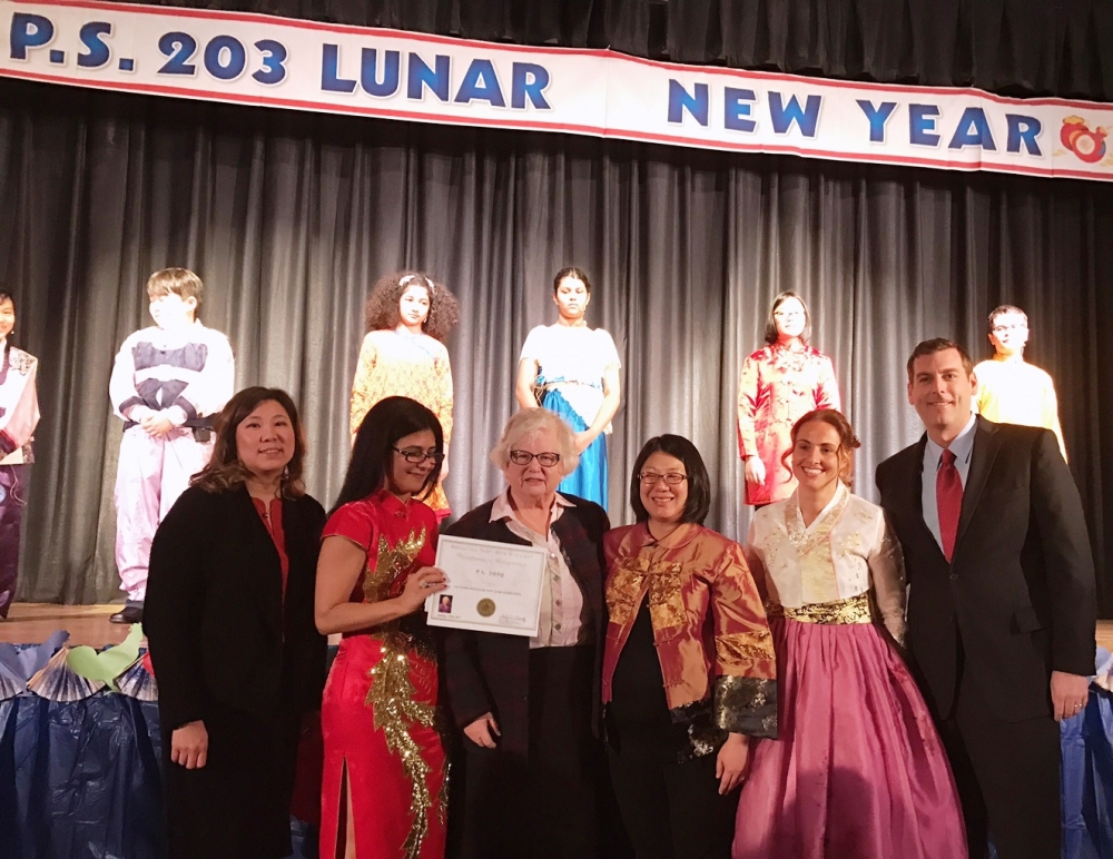 On January 25, 2017, Assemblyman Braunstein joined PS 203: The Oakland Gardens School to celebrate Lunar New Year with Congresswoman Grace Meng and Senator Toby Ann Stavisky.