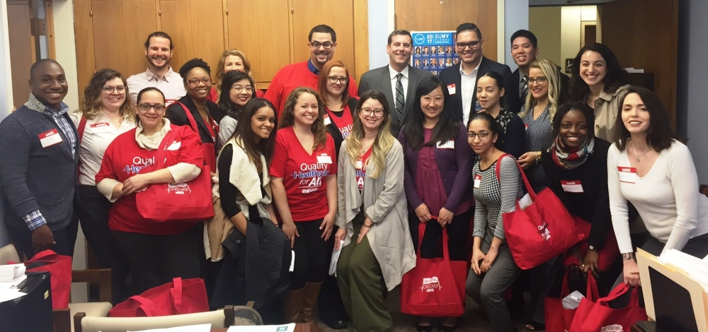 On April 25, 2017, Assemblyman Braunstein met with the New York State Nurses Association in Albany.