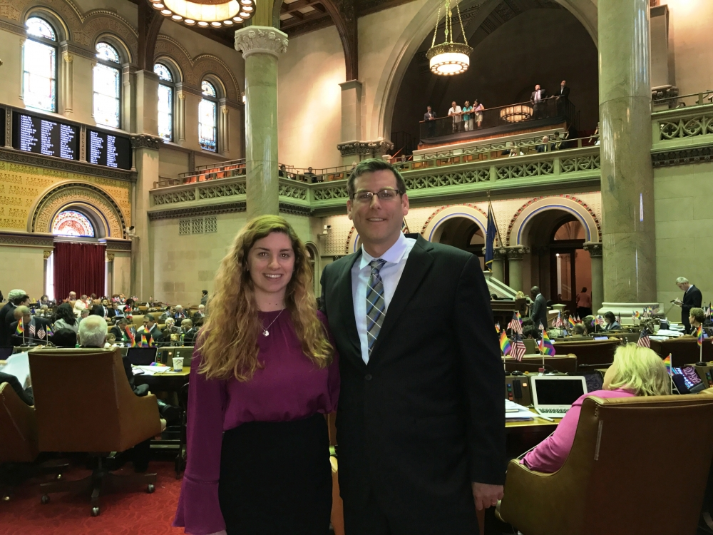 On June 21, 2017, Assemblyman Braunstein met with Cayley Gehnrich, who interned in his office during the 2017 Session in Albany.