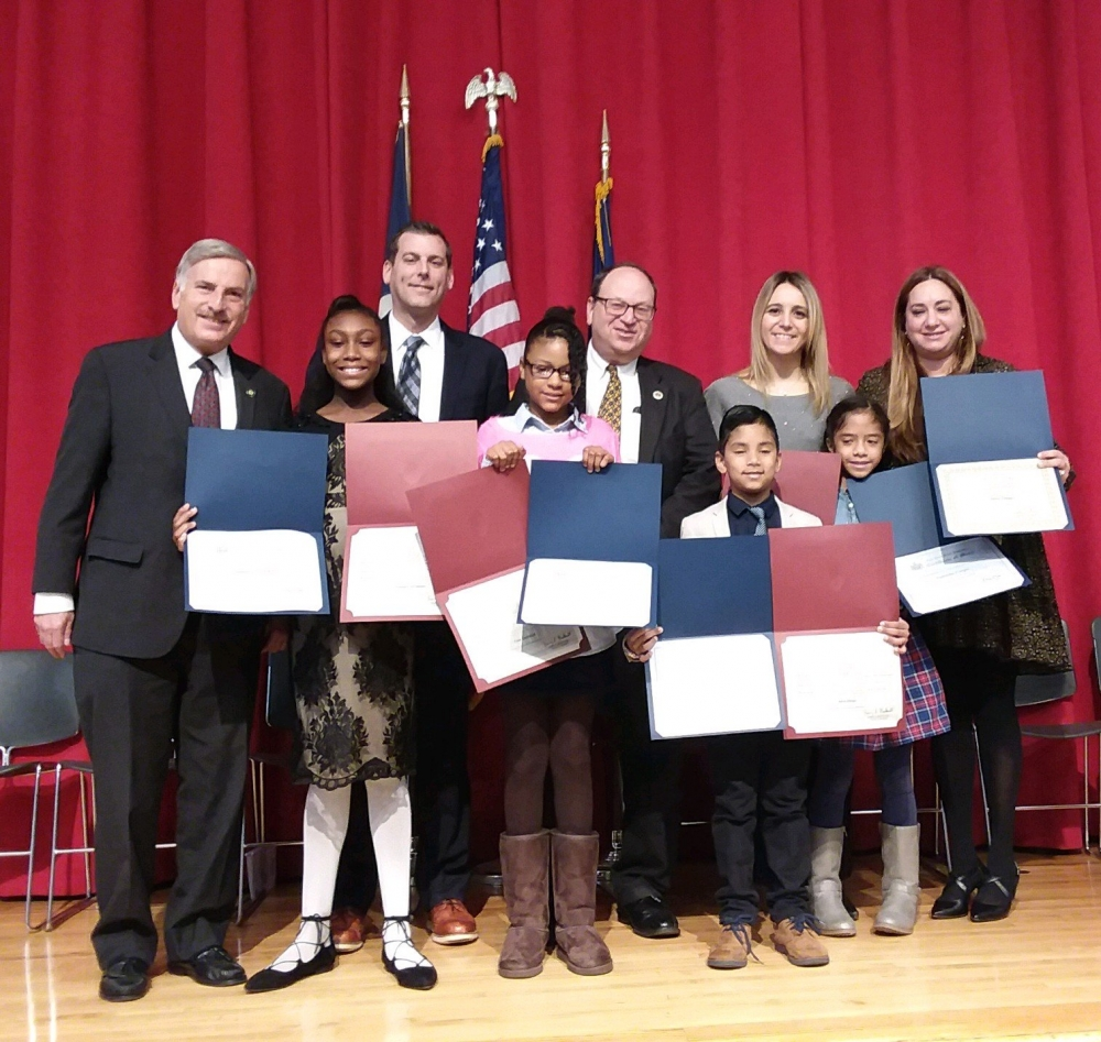 On November 9, 2017, Assemblyman Braunstein attended PS 115's Student Council Installation Ceremony with Assemblyman David Weprin and Council Member Barry Grodenchik.