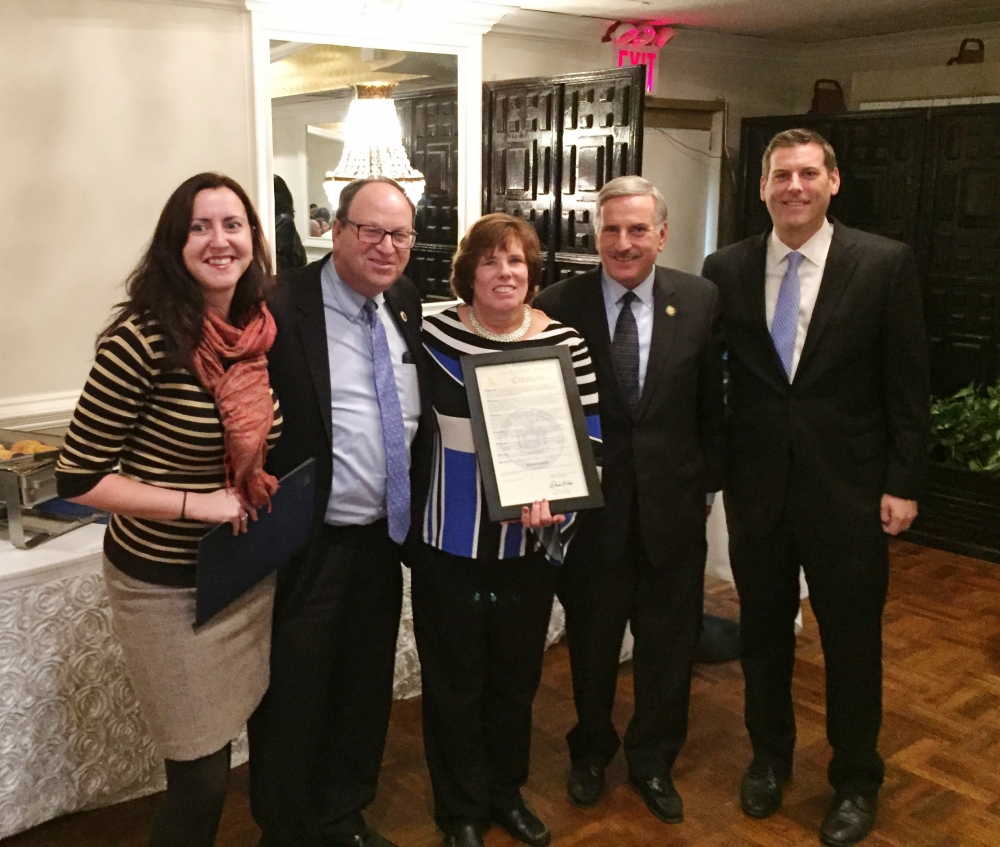 On November 14, 2017, Assemblyman Braunstein presented a New York State Legislative Resolution, along with Assembly Members Nily Rozic and David Weprin, and Council Member Barry Grodenchik, to Susan S
