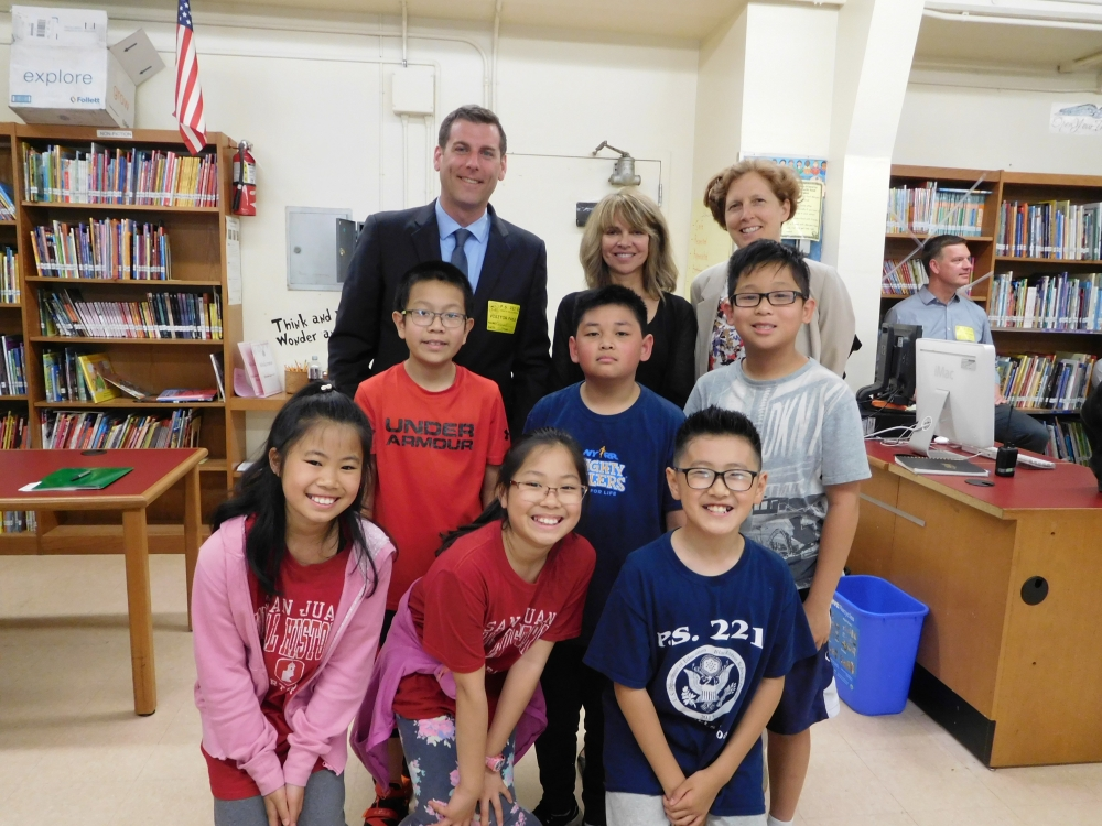 On May 29, 2018, Assemblyman Braunstein visited PS 221 in Little Neck, as the students helped to design the school&#39;s new playground.<br /><br />&nbsp;