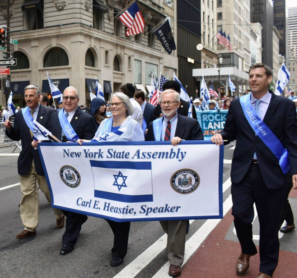 On June 3, 2018, Assemblyman Braunstein marched in the Celebrate Israel Parade in Manhattan, which was the world's largest public event celebrating Israel's 70th anniversary.