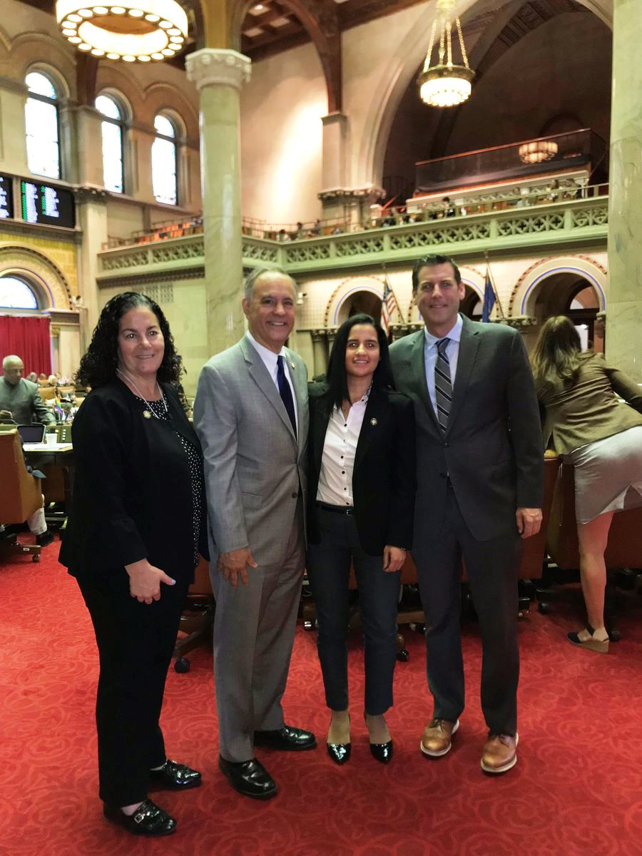 On June 12, 2018, Assemblyman Braunstein and his colleagues met with Queens College President Félix V. Matos, who was in Albany celebrating the college's 80th anniversary.
