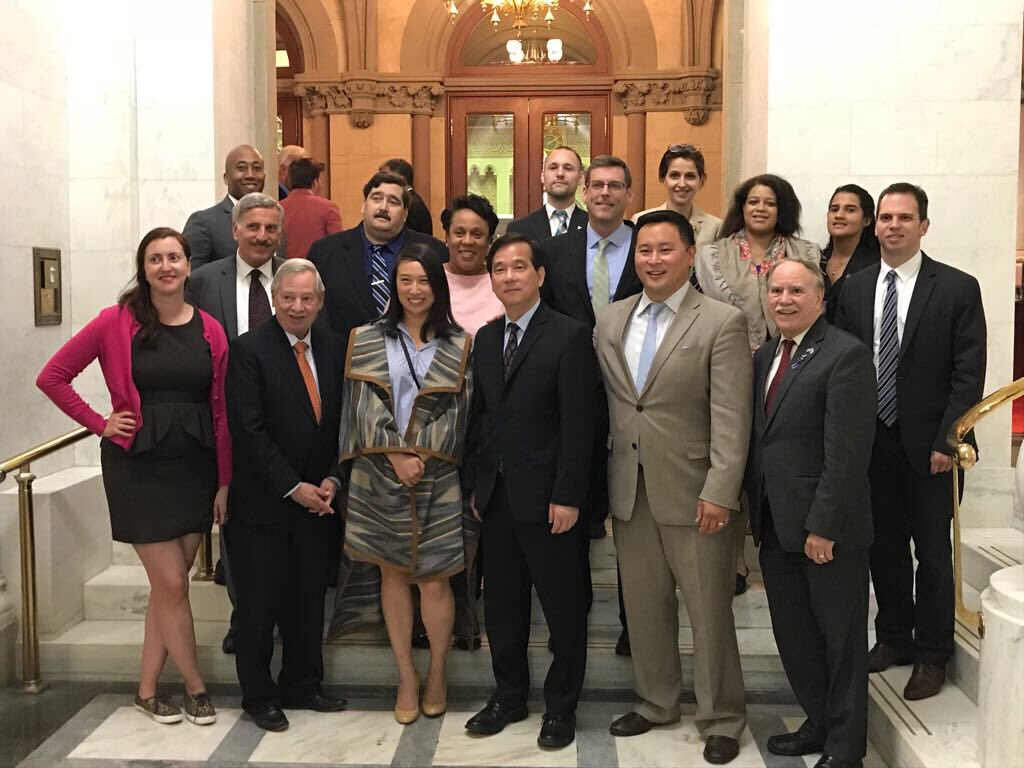 On June 20, 2018, Assemblyman Braunstein and his colleagues welcomed Christopher Kui, the first Executive Director of the New York State Assembly Asian Pacific American Task Force.