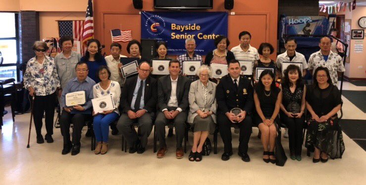 On July 7, 2018, Assemblyman Braunstein attended the Key Luck Club's 7th Annual Chinese American Heritage Celebration & Award Presentation Ceremony at the Bayside Senior Center.